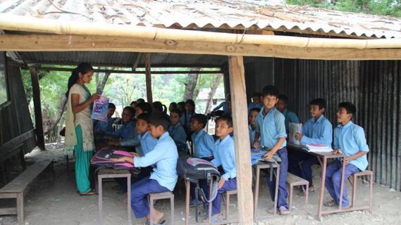 Nach der Mission ist vor der Mission: Ein erstes Bild der neu entstehenden Schule in Nepal.