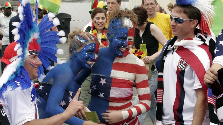 Foto: Eduard Weigert..WM 2006 WMNürnberg....USA - Ghana..vorm Spiel....