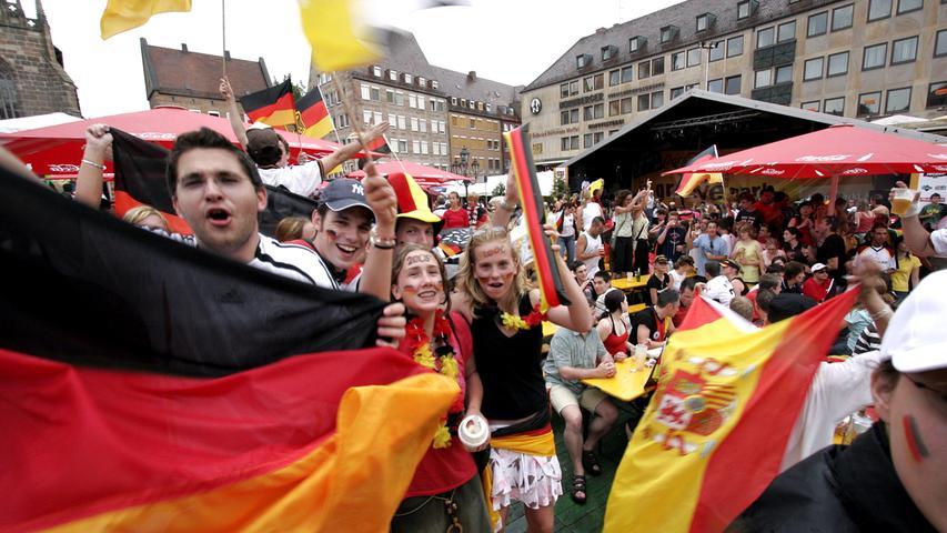 RESSORT: Lokales / Politik..DATUM: 20.06.06..FOTO: Michael Matejka ..MOTIV: WM-Spiel: Deutschland - Ecuador / Hauptmarkt..