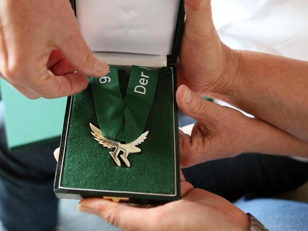 Diese Medaille gab es für die