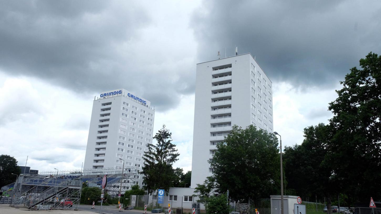 In den Grundig-Türmen in der Beuthener Straße befindet sich seit Juli eine Aufnahmeeinrichtung für Asylbewerber.