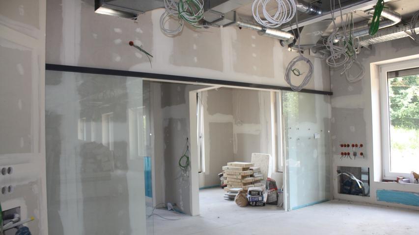 Hier entsteht die neue Dialysestation. Nach dem Umzug ins Erdgeschoss werden in Gunzenhausen 18 statt bisher 11 Dialyseplätze zur Verfügung stehen.