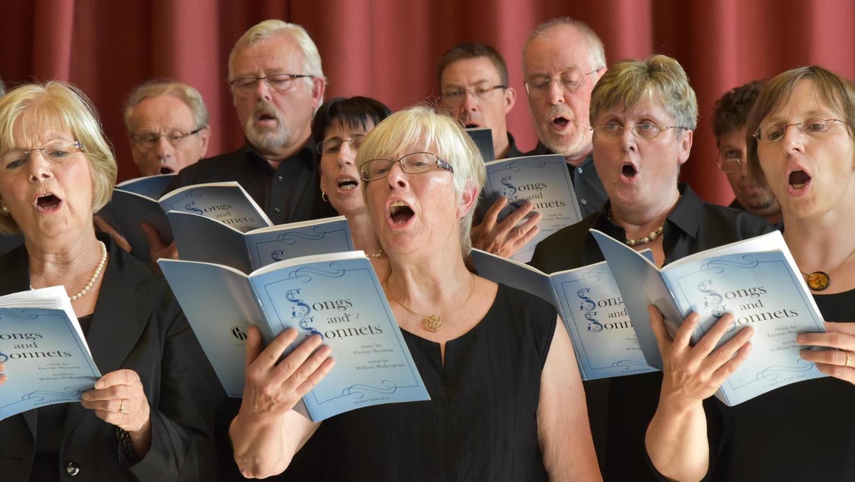 """Der Kammerchor Sonorité der Johanniskirche singt """"Songs and Sonetts from Shakrespeare"""", einen Liederzyklus des Briten George Shearing."""