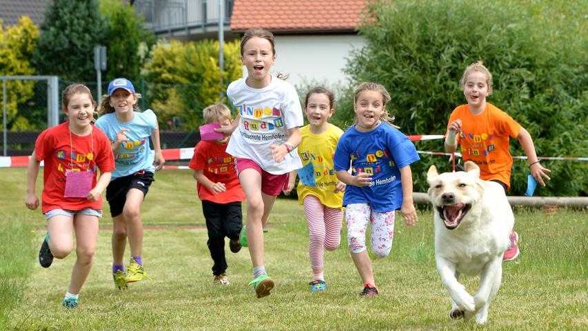 Hemhofener Kinder laufen für Kinder in Not