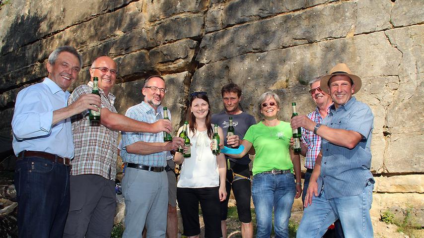 Startschuss für den neuen Klettersteinbruch bei Möhren