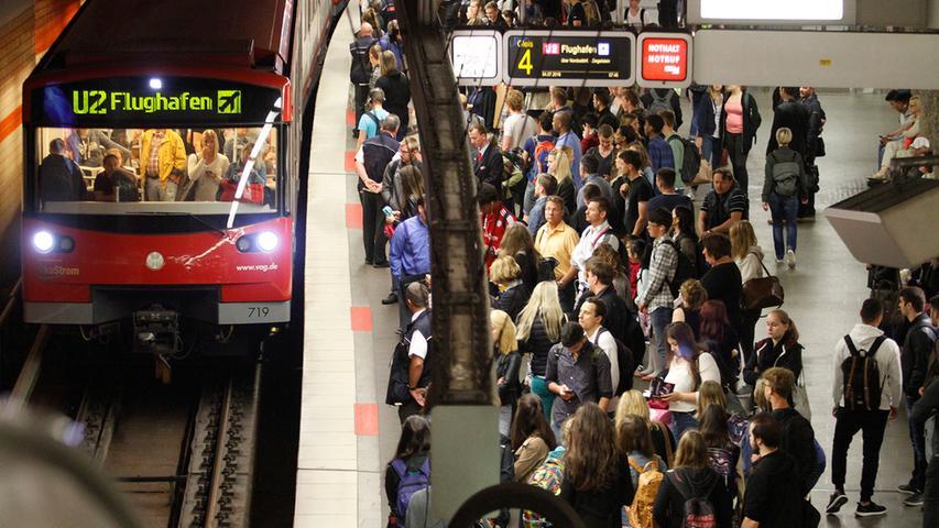 Rein und raus: Das ist Nürnbergs Top Ten der U-Bahnhöfe