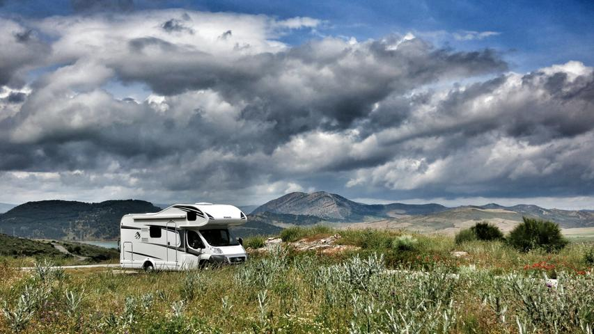 Auf großer Fahrt durchs andalusische Gebirge.