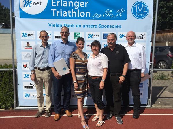 Die Organisatoren und Sponsoren freuen sich auf ihren Erlanger Triathlon.
