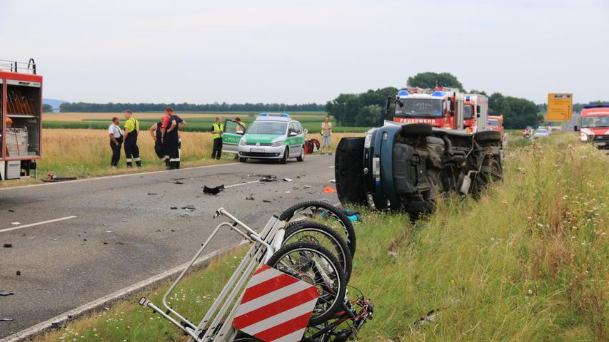 Der Fahrer des Fiat starb noch vor Ort.