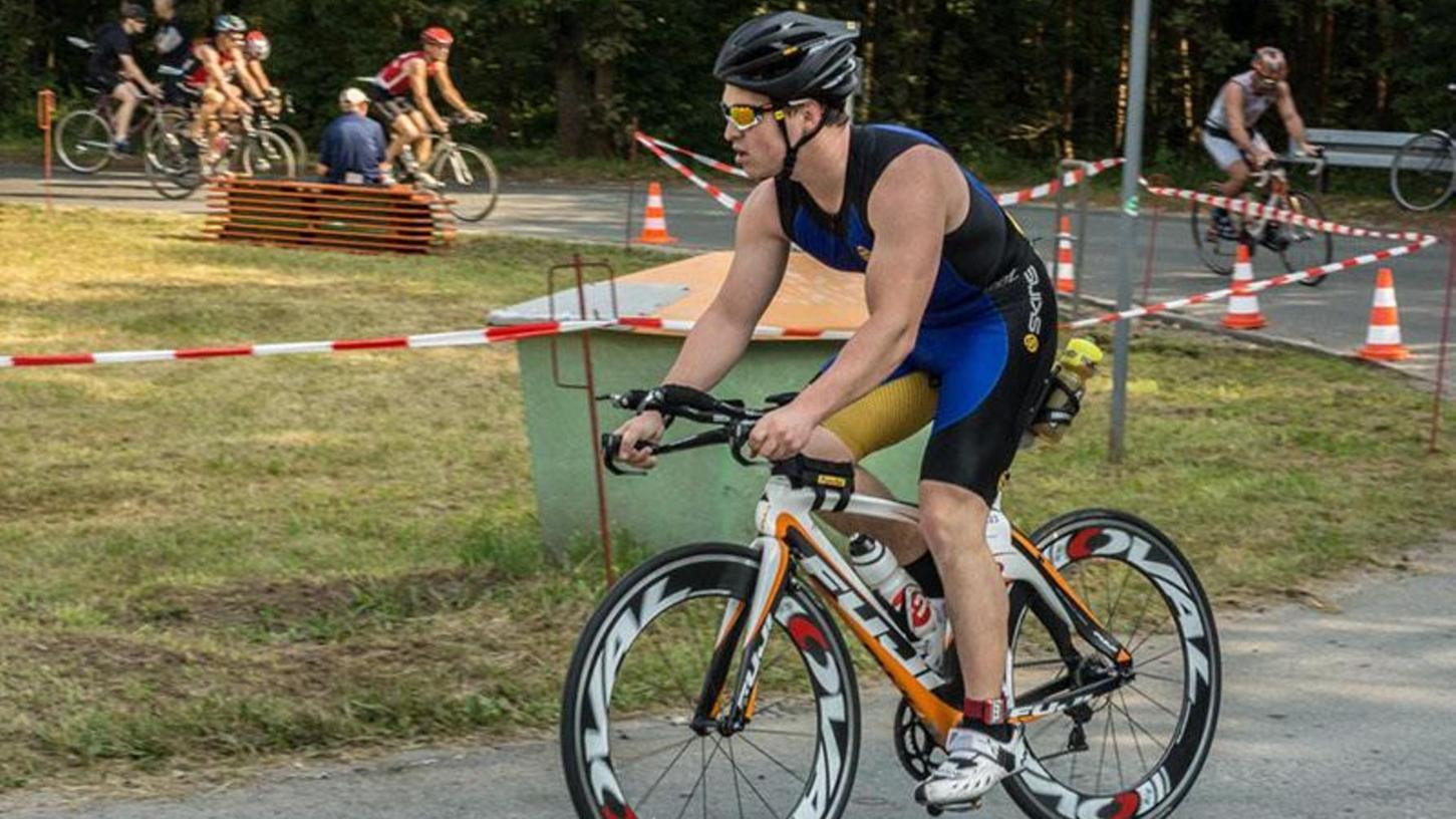 Ist bereits zum vierten Mal beim Erlanger Triathlon dabei: Christian Matthäus startet im Team seines Arbeitgebers.