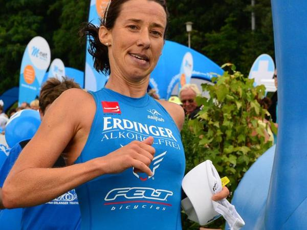 Gewinnt bei ihrer Erlangen-Premiere über die Mitteldistanz: Silvia Felt.