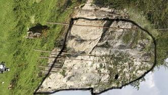 Mit einiger Fantasie lässt sich am Richard-Wagner-Felsen bei Obertrubach der Kopf des Komponisten wiedererkennen. Foto und Montage: Löwisch