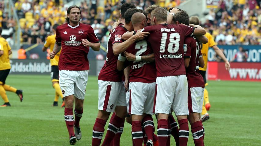 Rassiges Remis vor großer Kulisse: FCN punktet in Dresden