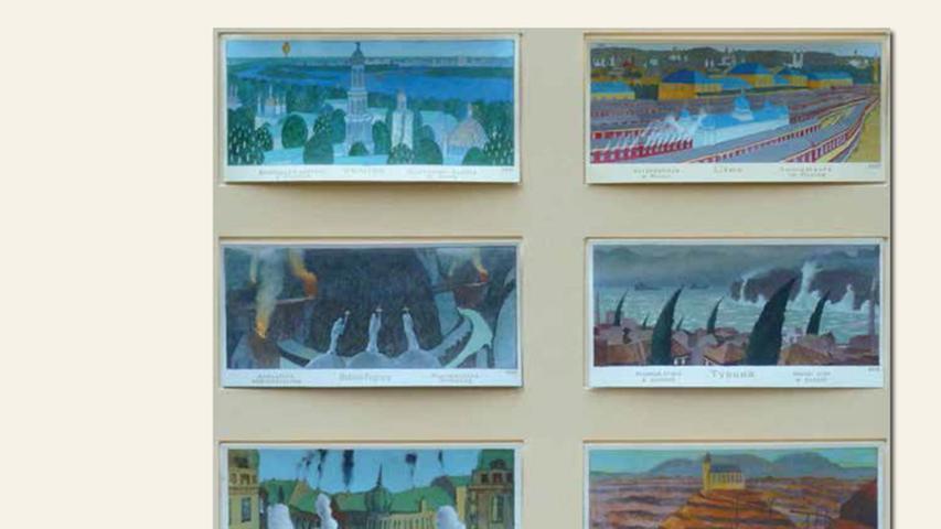 geb. 1957 in Beilngries lebt in Nürnberg Tableau Fronteks, 16 Blätter (2016) je 70 x 100 cm Acryl auf Papier
