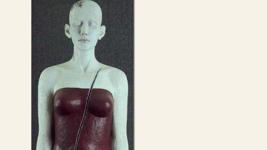 geb. 1951 in Nürnberg lebt in Hetzles Verletztheit (2015) 165 x 41 x 30 cm Eiche und Acrylfarbe