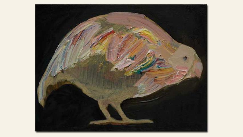 geb. 1989 in Witten lebt in Nürnberg Kakapoo II (2016) 18 x 24 cm Öl auf Leinwand