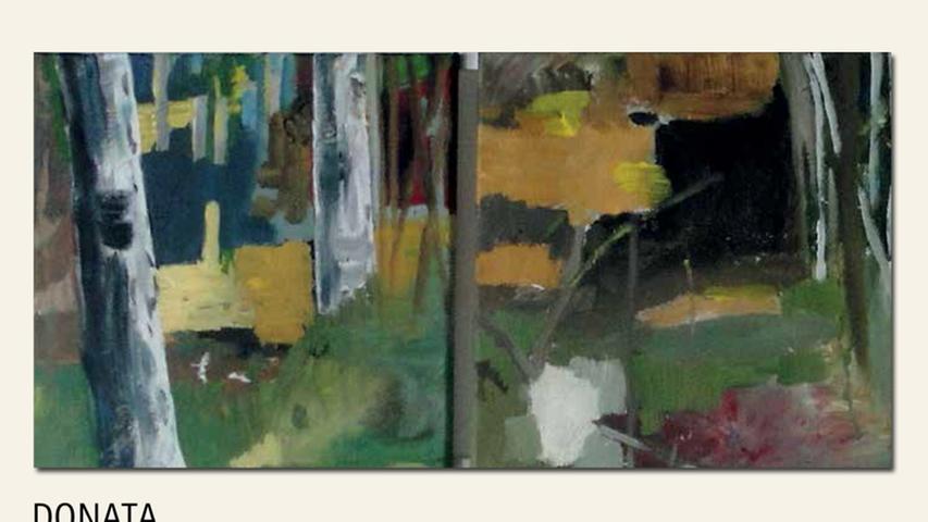 geb. 1967 in Duisburg lebt in Neumarkt Wald – Ausschnitt (2016) 174 x 44 cm Acryl auf Leinwand
