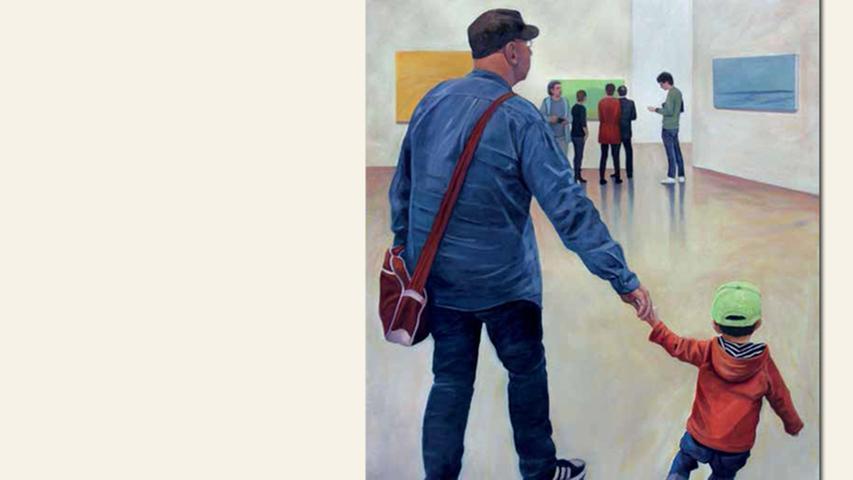 geb. 1949 in Iowa, USA lebt in Fürth Im Kunstraum – Mann und Kind (2016) 110 x 85 cm Öl auf Leinwand