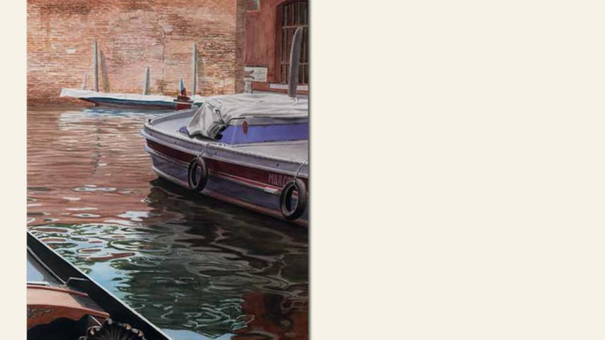 geb. 1961 in Stuttgart lebt in Neustadt/Aisch Venedig, Marcos Boot (2015) 70 x 47 cm Aquarell auf Papier