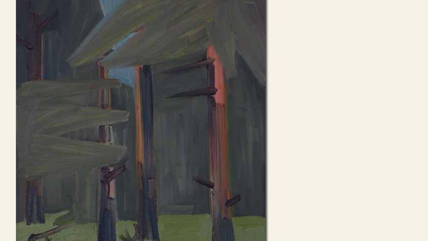 geb. 1973 in Landau lebt in Treuchtlingen-Auernheim Waldstück (2015) 60 x 50 cm Öl auf Holz nominiert vom Preisstifter