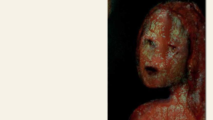 geb. 1950 in Passau lebt in Heilsbronn Mädchen rot (2015) 66 x 55 cm Öl auf Leinwand