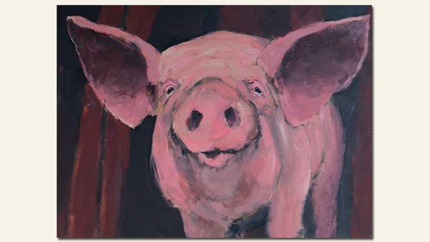 geb. 1963 in Schwandorf lebt in Erlangen Fred büchst aus (2016) 60 x 80 cm Acryl auf Leinwand nominiert vom Preisstifter