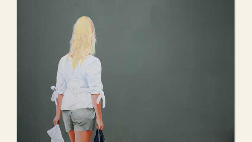 geb. 1946 in Nürnberg lebt in Nürnberg shopping girl III (2011) 80 x 120 cm Acryl auf Leinwand
