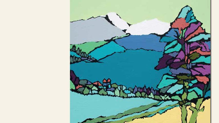 geb. 1947 in Roding lebt in Roßtal Blick nach oben (2015) 100 x 90 cm Acryl auf Leinwand