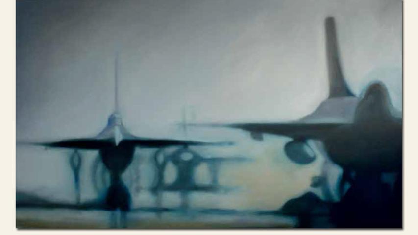 geb. 1940 in Fürstenberg/Oder lebt in Bayreuth Der Mensch ist nicht des Menschen Freund (2015) 150 x 250 cm Öl auf Leinwand