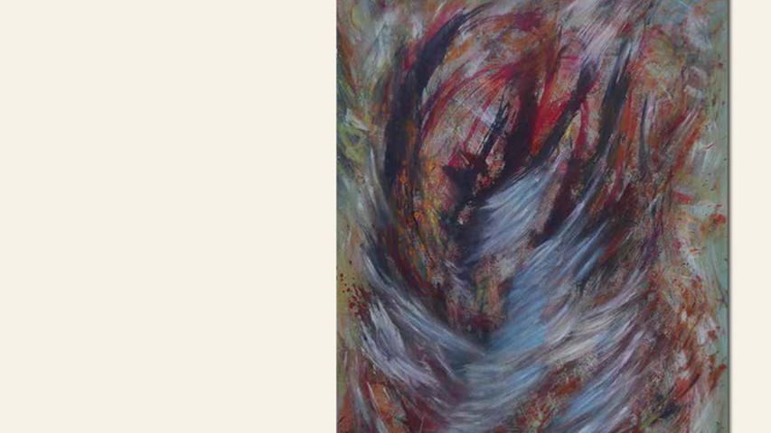 geb. 1952 in Wunsiedel lebt in München Schiffbruch-gerettet (2011–2016) 80 x 60 cm Pigment, Acryl auf Leinwand