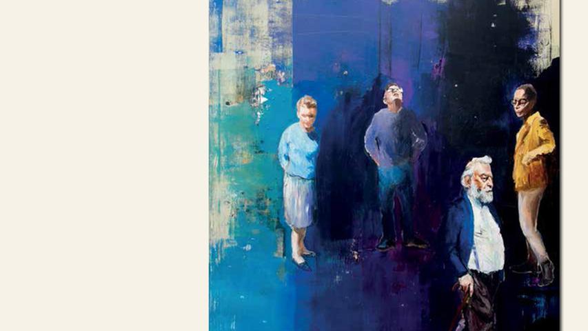 geb. 1983 in Nürnberg lebt in Erlangen Und du sollst ihn nicht suchen trotzdem (2015) 140 x 120 cm Acryl auf Leinwand