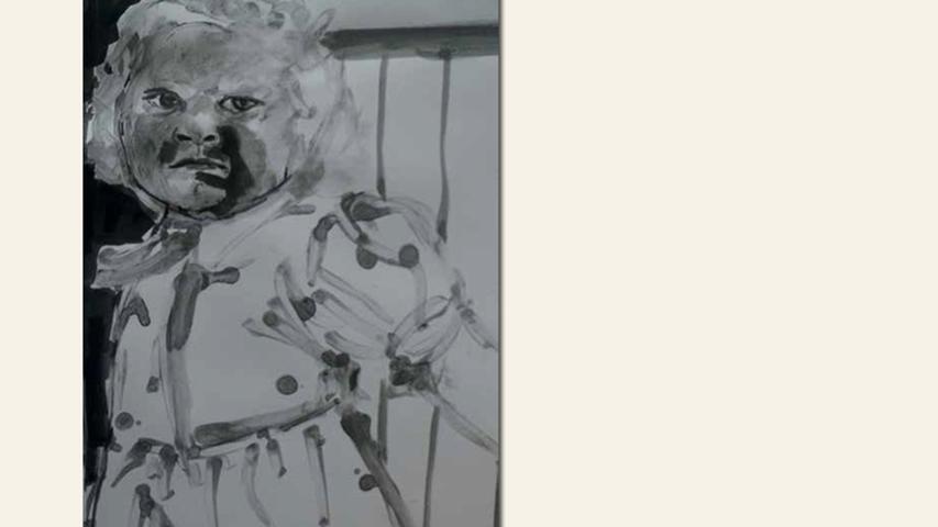 geb. 1974 in Trebisov, Slowakische Republik lebt in Nürnberg Böses Mädchen (2016) Graphit, Tusche auf Papier