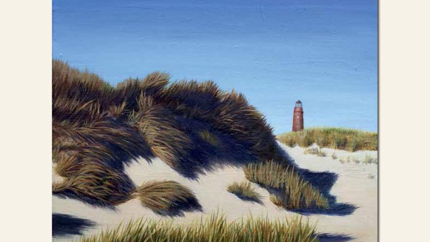 geb. 1954 in Sonnefeld lebt in Erlangen Am Meer, Darß (2015) 40 x 50 cm Acryl auf Baumwolle nominiert vom Preisstifter