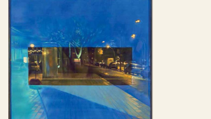 geb. 1964 in Nürnberg lebt in Berlin Cinemascope (2015) 200 x 200 cm Öl auf Leinwand