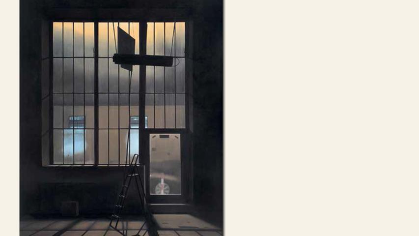 geb. 1958 in Nürnberg lebt in Nürnberg AEG Hallenfenster (2014) 154 x 110 cm Öl auf Holz