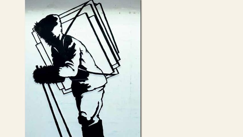 geb. 1964 in Lichtenfels lebt in Bad Windsheim Der Bildträger (2016) 260 x 150 cm Holz, gesägt, lackiert