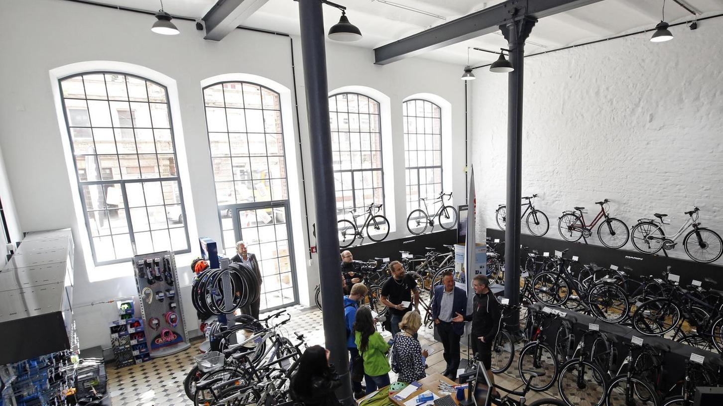 Viel Licht und jede Menge Platz hat das Fahrradgeschäft South Park Cycles in den Malzböden, wo es vor neun Wochen eingezogen ist.