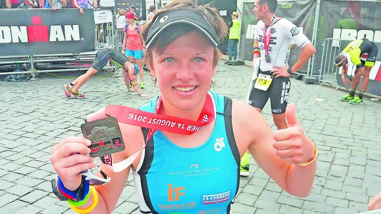 Theresa Wild hat es geschafft: Sie wurde in Wiesbaden Europameisterin im Ironman-70.3.Wettbewerb. Dabei war das Rennen diesmal besonders hart.