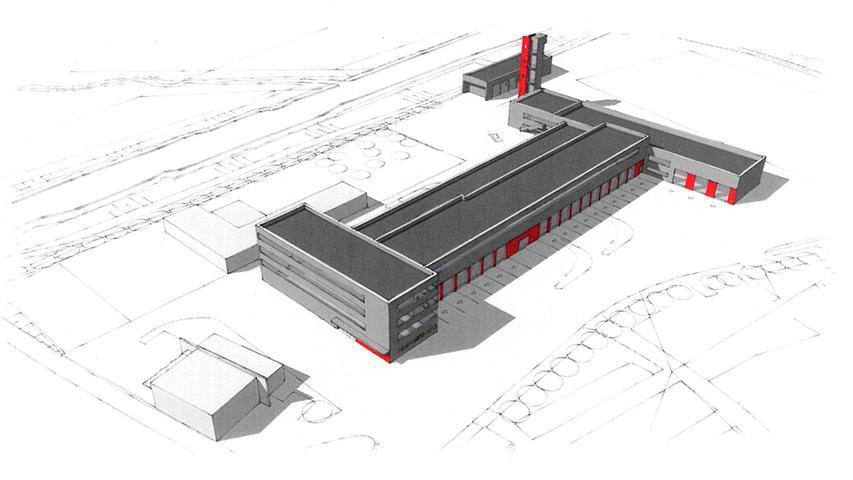 Und so sieht die Zukunft für Fürths Feuerwehr aus: ein Entwurf des neuen Quartiers am Schießanger.