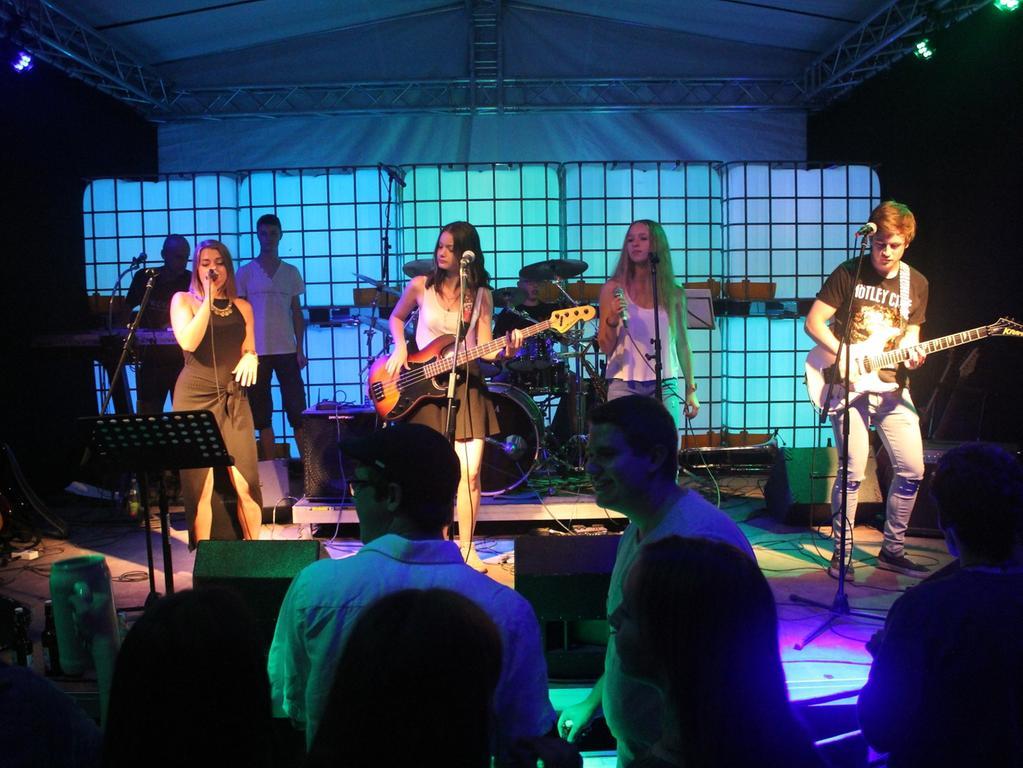 Höchstadt , 27.08.2016..Ressort: Lokales Fotografie: Christian Enz..Konzert Engelgarten , Trouble x
