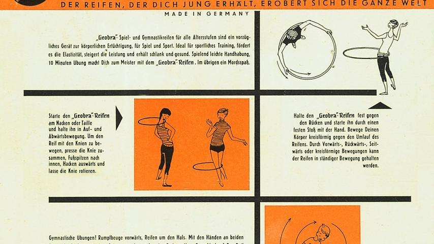 Kaum im Unternehmen, überzeugte Horst Brandstätter seinen Onkel davon, bei der Produktion von Metall auf Kunststoff umzusteigen. Und auch bei den Produkten experimentierte er gerne in alle Richtungen. Einen besonders guten Riecher hatte Hob, wie ihn später seine Mitarbeiter nannten, bei einem Spielgerät bewiesen, das er in den USA entdeckt hatte: dem Hula-Hoop-Reifen. Dieser zog, so berichtet Museumschefin Falkenberg, alle Kreise der Gesellschaft in seinen Bann. Kein Wunder, schließlich enthalte der Reifen sämtliche Elemente, die für einen Erfolg nötig sind: Sportlichkeit, Geschick und ein bisschen Erotik.