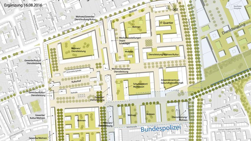 Plan Lagarde Campus Bamberg Konversionsgelände