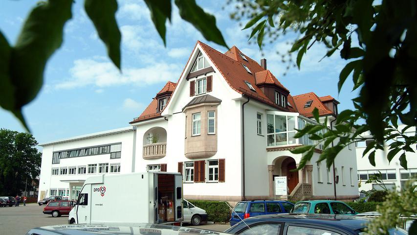 Bevor die modernen Fertigungshallen gebaut wurden, wurde auf diesem Gelände an der Fürther Straße in Zirndorf produziert.