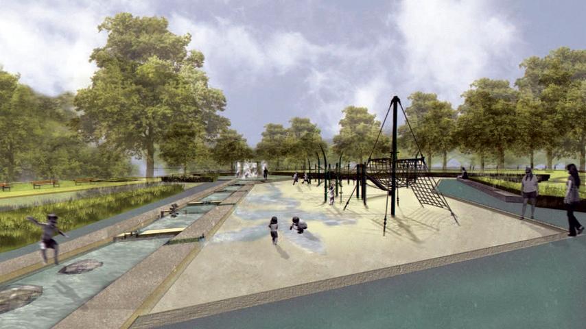 Wasserspielplatz und mehr: So wird die neue Grünanlage am Norikus