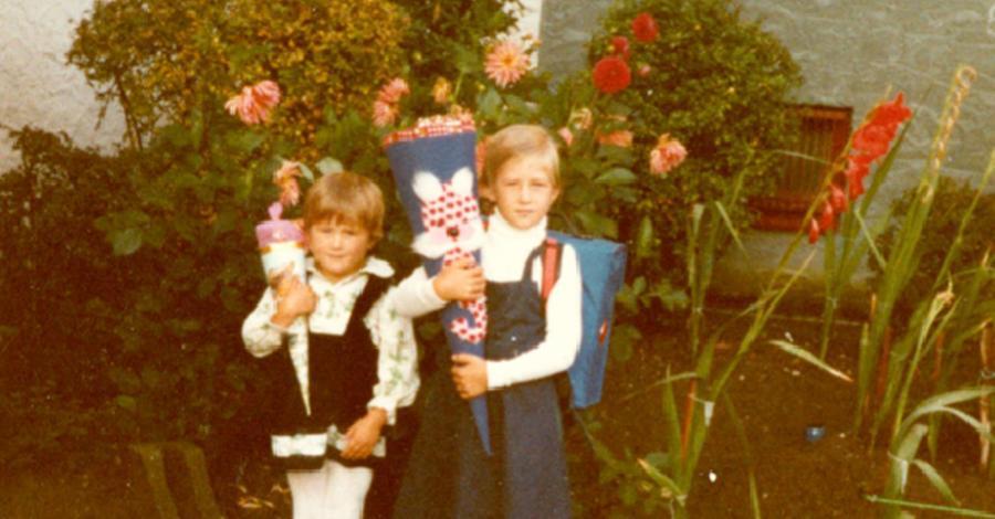 1981 durfte Brigitte Scharrer dann die Einschulung ihrer Tochter Sabine mitverfolgen.