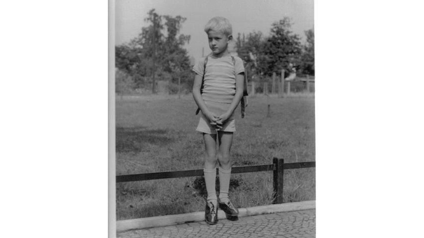 Dieter Steurer aus Pinzberg wurde im März 1951 in Nürnberg eingeschult.