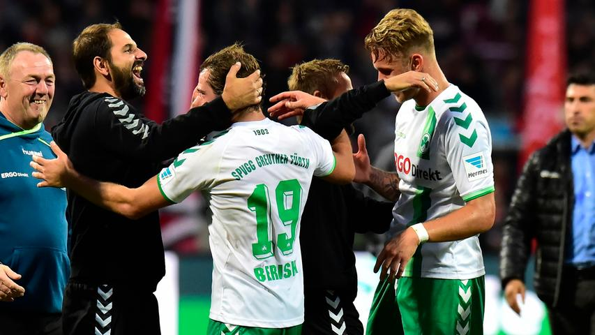 Und so behielt das Kleeblatt mit dem 2:1-Sieg die Oberhand im 261. Frankenderby und stürzte den Club damit sogar auf den letzten Tabellenplatz.