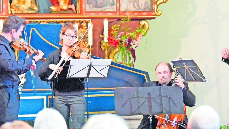 Glänzend aufeinander eingespielt, bereitete das Streichquartett der Neuen Nürnberger Ratsmusik einen echten Hörgenuss.