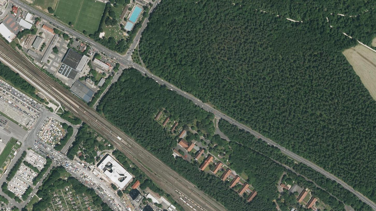 Auf der Fläche zwischen Bahngleisen, Regensburger Straße und Hans-Kalb-Straße muss der Baumbestand weitestgehend plattgemacht werden. Der Bauherr will bald loslegen.
