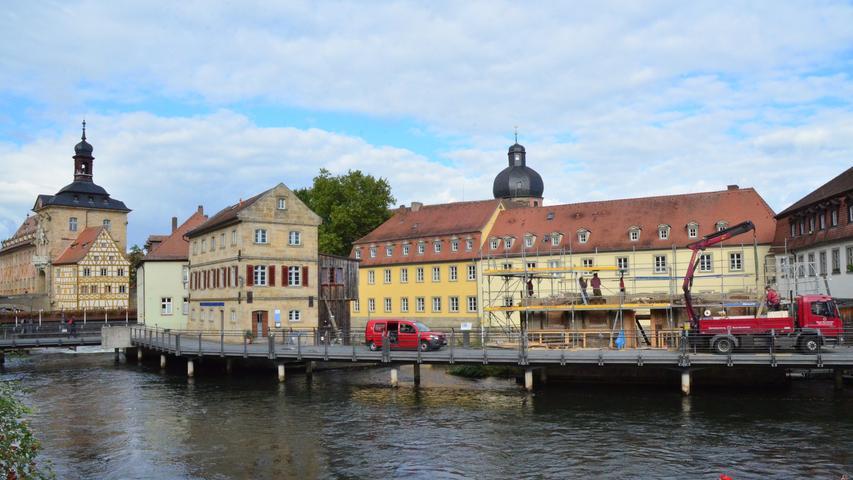 Platz für Welterbezentrum: Abbau der Sterzermühle in Bamberg